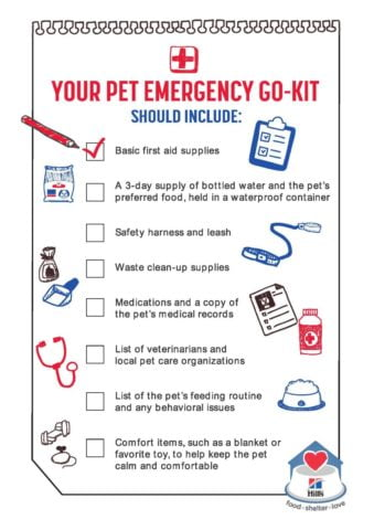 Pet Emergency Disaster Preparation