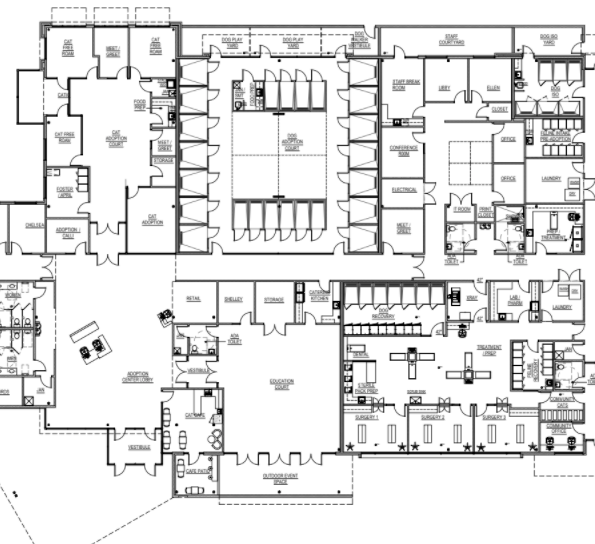 New facility floor plan